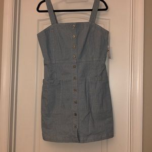 American Eagle denim overall dress
